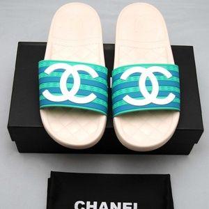 Chanel CC Pool Slides